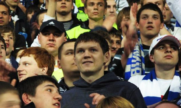 Тарас Михалик на фанатській трибуні Динамо